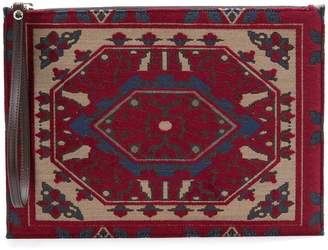 Etro carpet-style pouch bag
