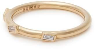 Ileana Makri 18kt gold and baguette-diamond ring