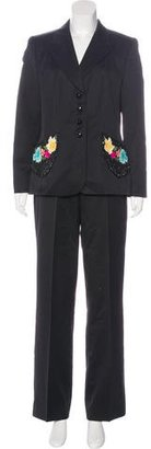 Escada Wool Embellished Pantsuit w/ Tags $425 thestylecure.com
