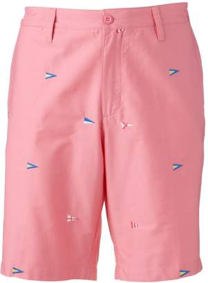 Caribbean Joe Men's Classic-Fit Embroidered Twill Shorts
