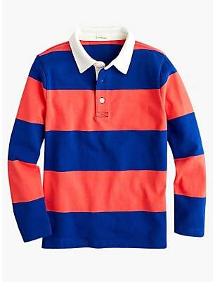 J.Crew crewcuts by Boys' Rugby Stripe Top, Blue