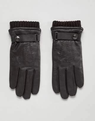 Dents Henley leather touchscreen gloves