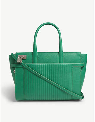 Zadig & Voltaire Gazon Green Candide Leather Tote Bag