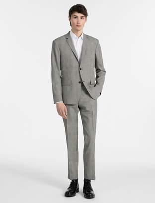 Calvin Klein slim fit glen plaid suit
