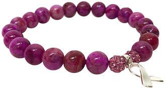 Eye Of The Sea Pink Agate Awareness Bracelet