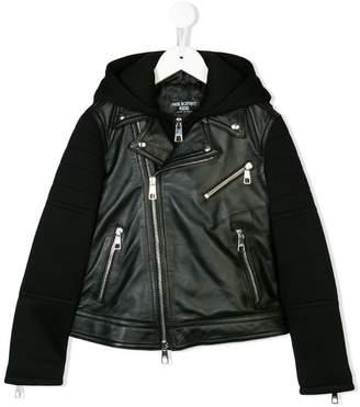 e8587acfe4c Boys Hooded Leather Jacket - ShopStyle