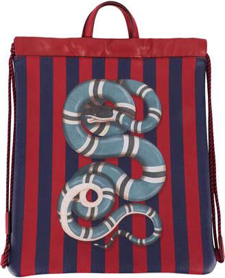 Gucci snake drawstring backpack
