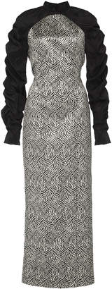 Lulu Eleanor Balfour M'O Exclusive Ruched Jacquard Midi Dress