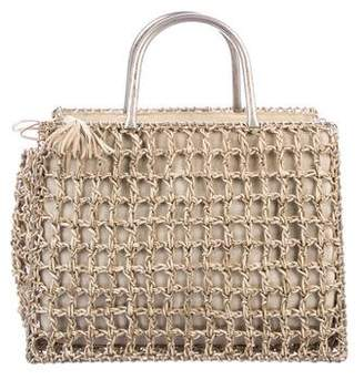 Salvatore Ferragamo Woven Leather Basket Bag