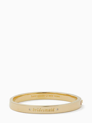 Kate Spade Her day to shine pave bridesmaid bangle