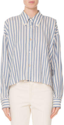 Isabel Marant Long-Sleeve Striped Cotton Shirt