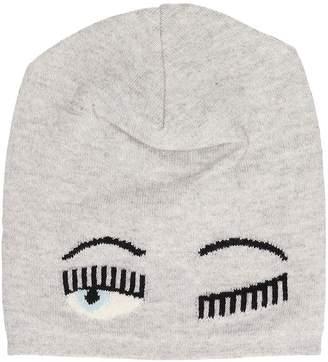 Chiara Ferragni Beanie Flirting Grey Wool Hat