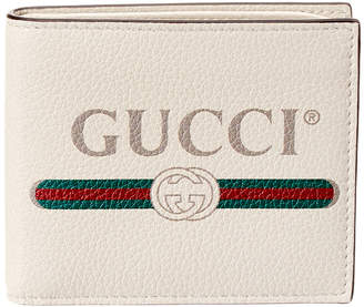 Gucci Print Leather Bifold Wallet