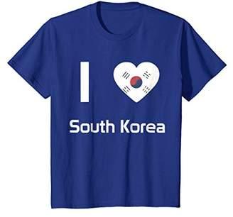 I love South Korea T-shirt Tee Tees T Shirt Tshirt