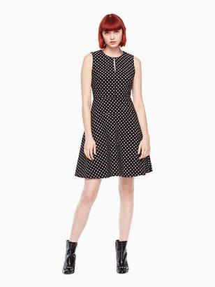 Kate Spade Diamond jacquard a-line dress