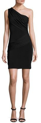 Alice + Olivia Cici One-Shoulder Mini Dress, Black $350 thestylecure.com
