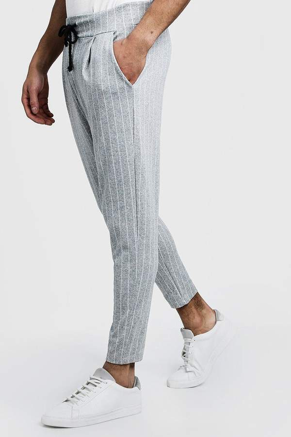 boohoo Pinstripe Smart Jogger Trousers