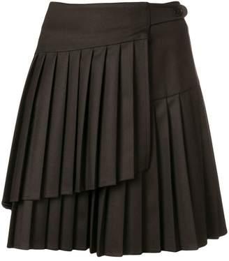 P.A.R.O.S.H. double pleated mini skirt