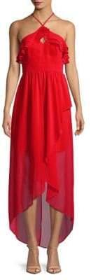 BCBGeneration Sleeveless Surplice Hi-Lo Maxi Dress