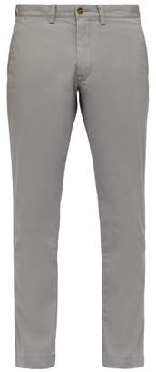 Polo Ralph Lauren Slim Fit Cotton Blend Chino Trousers - Mens - Grey