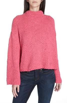 Eileen Fisher Funnel Neck Cotton Sweater