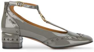 Chloé Grey Perry 45 Patent Leather Pumps