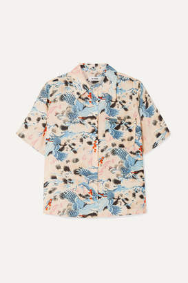 RE/DONE Printed Voile Shirt - Blue