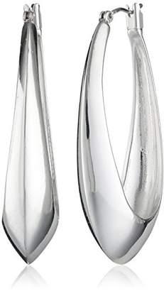 """Rob-ert Robert Lee Morris""""Soho Sculptural"""" Oval Hoop Earrings"""