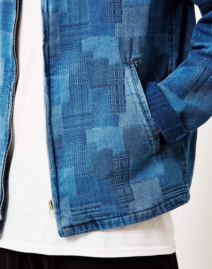 YMC Fonda Indigo Patchwork Jacket Blue