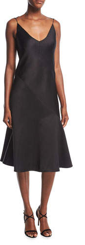 CALVIN KLEIN 205W39NYC Satin Bias-Cut Slip Dress