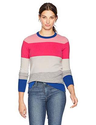 Lark & Ro Women's stripe Cashmere Sweater