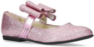 MonnaLisa Glitter Bow Mary Jane Flats