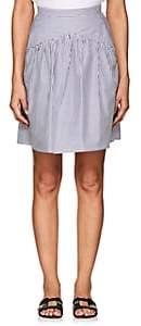 Atlantique Ascoli Women's Jupe Striped Cotton Skirt-Blue, White
