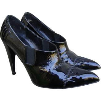 Prada Pleated Patent Leather Ankle Boots Qox81XZ