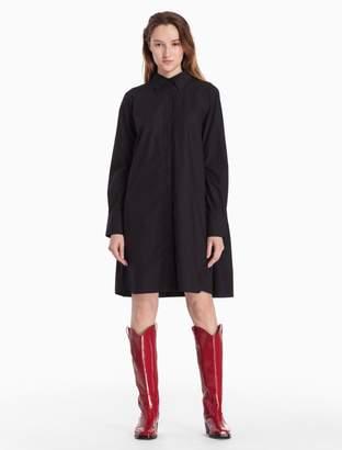 Calvin Klein tiered cotton woven shirt dress