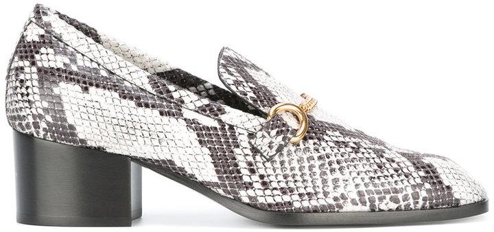Stella McCartney python effect loafers