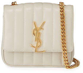 Saint Laurent Vicky Monogram Small Quilted Leather Crossbody Bag