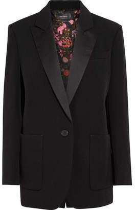 Isabel Marant - Laya Oversized Satin-trimmed Wool-twill Blazer - Black