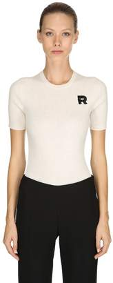 Rochas Short Sleeve Wool Rib Knit Sweater