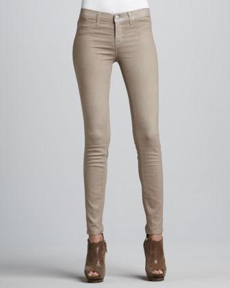 J Brand Jeans Coated Skinny Jeans