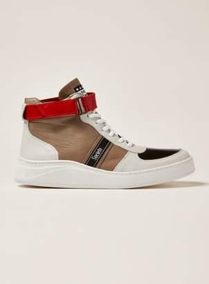 Topman Mens White Leather Mercurio Hi Top Boots