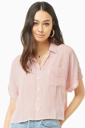 Forever 21 Striped Pocket Shirt