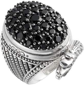 Konstantino Circe Black Spinel Snake Ring