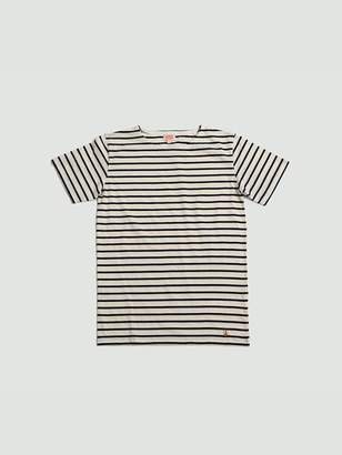 Armor Lux Sailor Shirt Ss Navy Offwhite - S