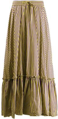 P.A.R.O.S.H. striped skirt with flounce