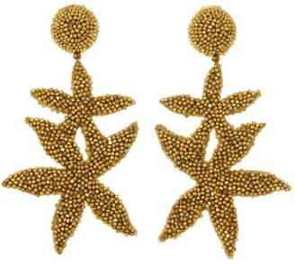 Oscar de la Renta Gold Double Starfish Earrings