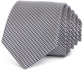 Theory Mini Houndstooth Non Solid Skinny Tie $98 thestylecure.com