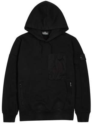 Stone Island X Shadow Project Black Hooded Cotton Sweatshirt