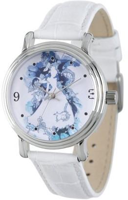 Disney Princess Cinderella Women's Rosegold Vintage Alloy Watch, Silver Sequins Strap