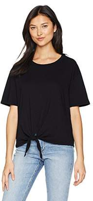 Velvet by Graham & Spencer Women's Matty Cotton Slub Tie Front Tee